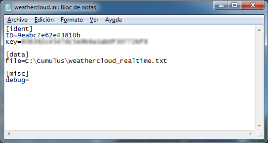 Cumulus Add-on for Weathercloud